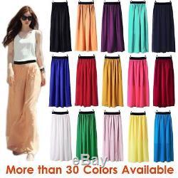 Wholesale JOB LOT of 10 to 1000 Women Double Layer Chiffon Long Maxi Dress Skirt