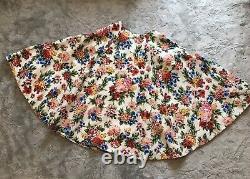 Woman's Emilia Wickstead Eleanor Floral Print Basketweave Maxi Skirt Size 10