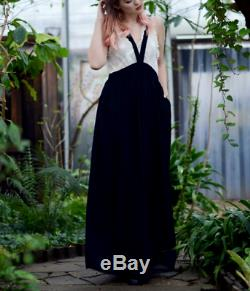 0e423f9ee Women's H&M Studio Silk Chiffon Skirt with Straps Black Long Maxi Light  Bloggers