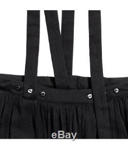 Women's H&M Studio Silk Chiffon Skirt with Straps Black Long Maxi Light Bloggers