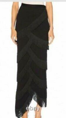 Y/PROJECT Fringe Tassel Stretch Jersey Long skirt M SRP $1260