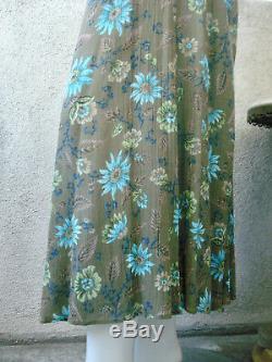 Y's Yohji Yamamoto Floral Rayon Maxi Skirt 1