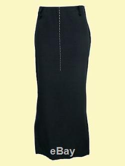 YOHJI YAMAMOTO Black Straight Long Skirt