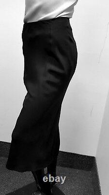 Yohji Yamamoto Silk Skirt black Minimalist lined size 1 (S) made in Japan 1-21