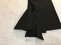 Yohji Yamamoto black maxi skirt tie back detail rigid twill 2 8 10
