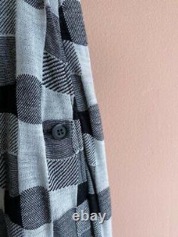Yohji Yamamoto vintage knit sweater skirt jacquard print maxi 90s la garconne 2