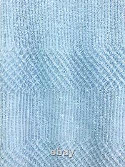 Yoshiki Hishinuma blue pleated polyester elastic waist hem ruffle maxi skirt S