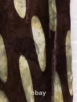 Yoshiki Hishinuma purple velvet maxi skirt with oval cutouts size 3 M S
