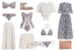 ZIMMERMANN'haze cross stitch maxi skirt natural' beige long silk 3 12 RRP $395