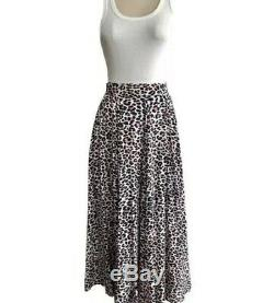 Zadig and Voltaire Joyo Leopard Print Maxi Skirt size 36 UK 8 Long
