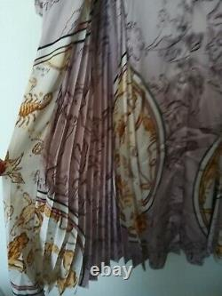 Zara New Fw19 Campaign Printed Dress With Pleated Skirt Size L Ref. 4043/171