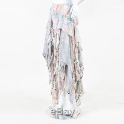 Zimmermann Pink Multicolor Snake Print Beaded Mystic Smock Skirt SZ 4/6