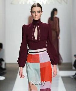 Zimmermann Rhythm Colourblock Silk Maxi Skirt- Size 2