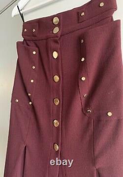 Zimmermann Rhythm Rivet Skirt Size 0 Au/uk8 Rrp$ 895