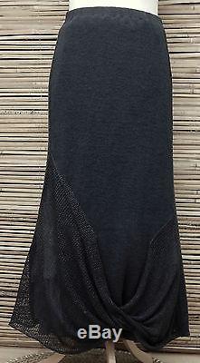 Zuza Bartdesign Oversize 100% Linen Beautiful Maxi Skirtanthracitexxl-xxxl