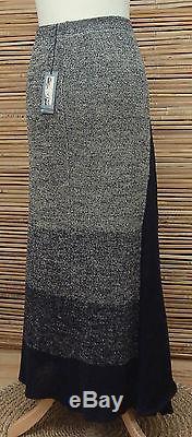 Zuza Bartdesign Oversize Linen Beautiful Maxi Skirtblack/beige Marlxxl-xxxl